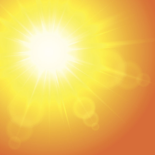 Sun background, vector illustration