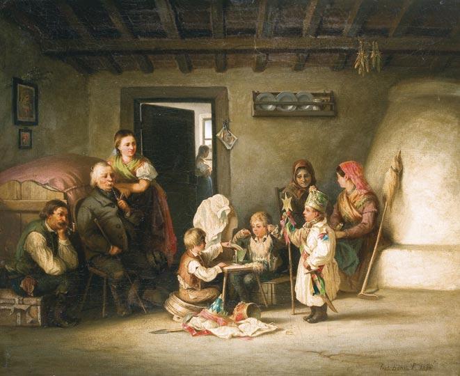 Böhm_Betlehemes_készülődés_1870