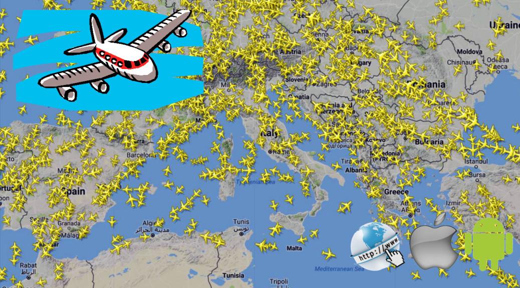 Vedere spostamenti aerei in volo in tempo reale sulla mappa