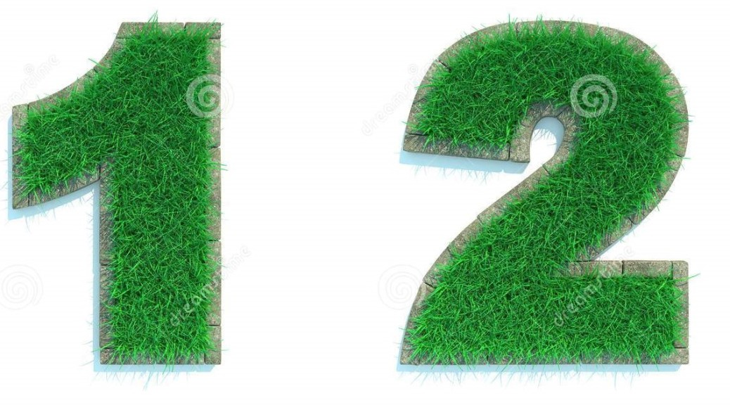 digits-green-lawn-set-white-background-d-46563810