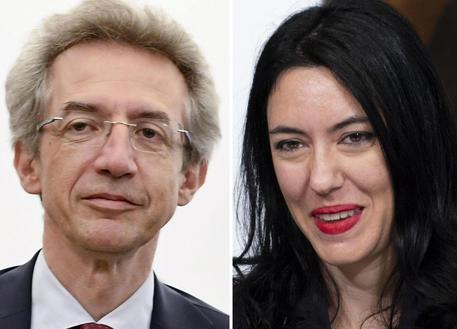 Una combo che mostra Lucia Azzolina (D), dirigente scolastico, e attualmente sottosegretario alla Scuola in quota M5S, e Gaetano Manfredi, rettore dell'Università Federico II di Napoli, 28 dicembre 2019.  ANSA - ARCHIVIO