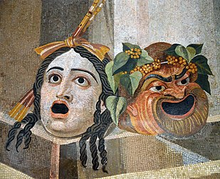 310px-Mosaic_depicting_theatrical_masks_of_Tragedy_and_Comedy_(Thermae_Decianae)